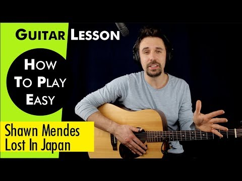 Lost In Japan-Shawn Mendes Guitar Lesson / Guitar Tutorial Solo Tutorial/play-along Capo/No Capo