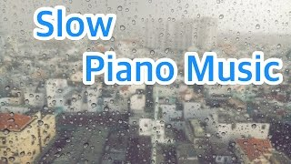 6 HOURS of RAIN SLEEP SOUNDS with Slow PIANO Music - Relaxing Background Rain Sounds for Sleeping