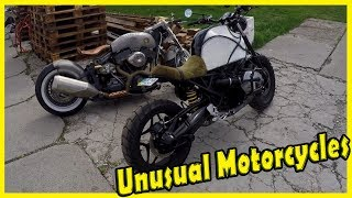 Strange and Unusual Looking Motorcycles BMW. Crazy and Bizarre Design Motorbikes 2018