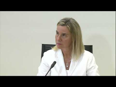 Federica Mogherini in Estonia: press conference with Marina Kaljurand, Estonian Foreign Minister