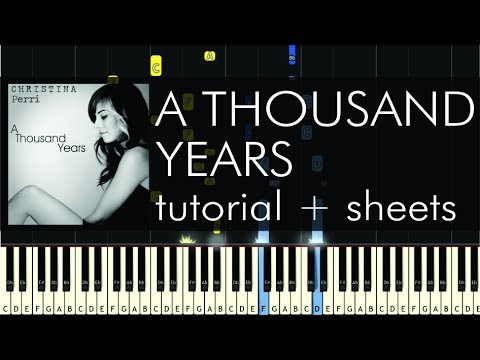 Christina Perri  A Thousand Years  Piano Tutorial  How to Play + Sheets