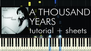A Thousand Years - Piano Tutorial - How to Play - Christina Perri