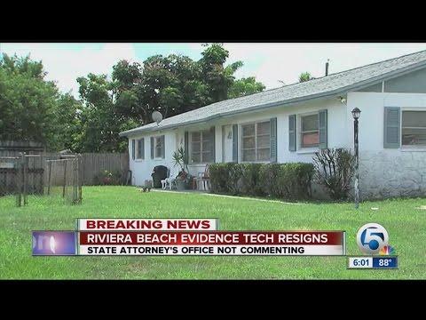Riviera Beach evidence technician off the job
