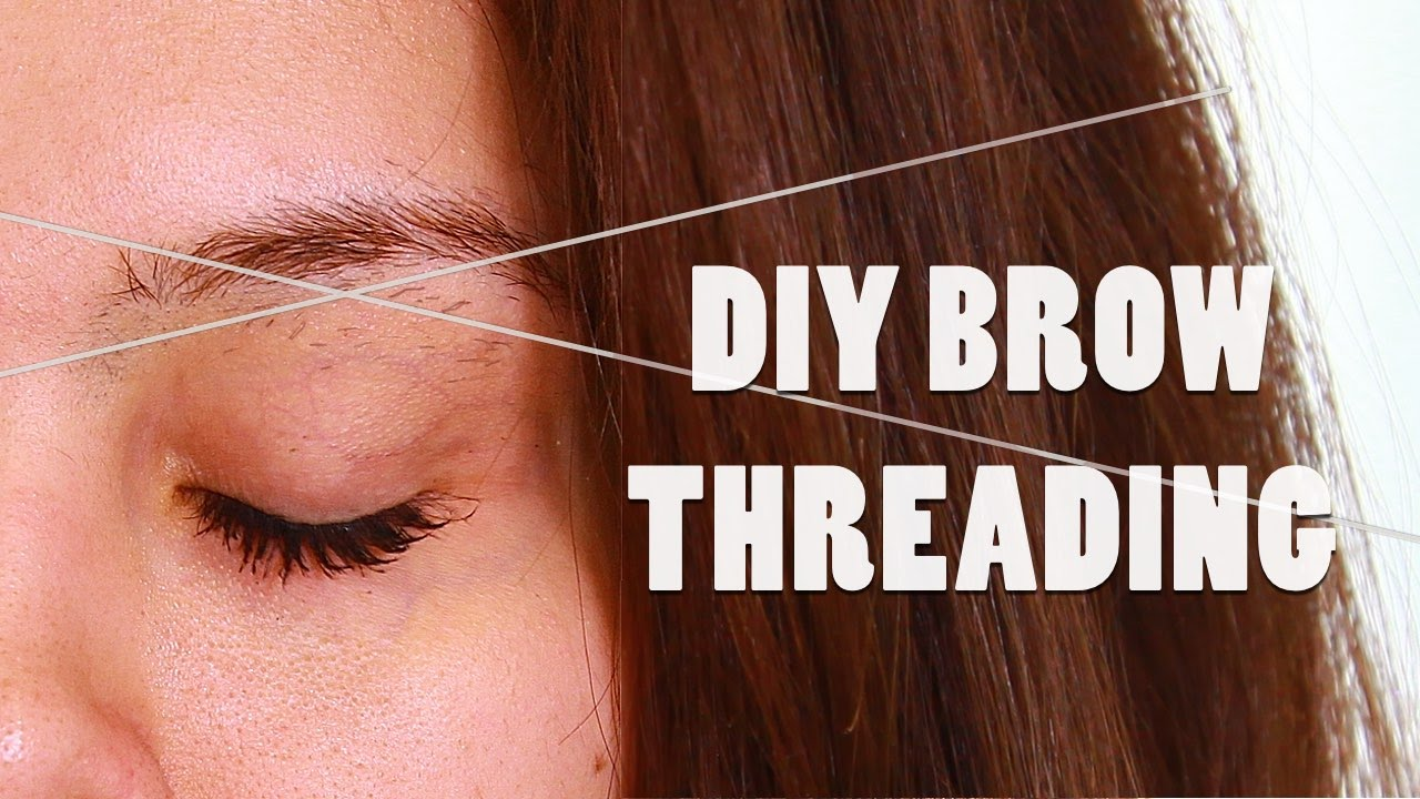 Diy Brow Threading Tutorial At Home Shaping Youtube