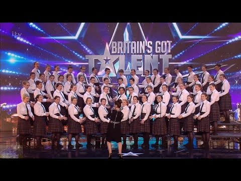 Britain's Got Talent 2016 S10E03 Presentation School All Girl Choir Sing Adiemus Full Audition
