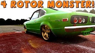 Forza 5 | Mazda RX-3 | 4 Rotor Beast! Drift Build