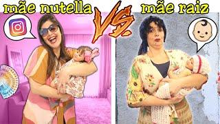 MÃE NUTELLA VS MÃE RAIZ !! Raiz vs Nutella