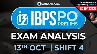 IBPS PO Prelims Exam Analysis | 13th October Shift 4 | Live from Students Coming from Exam Center!