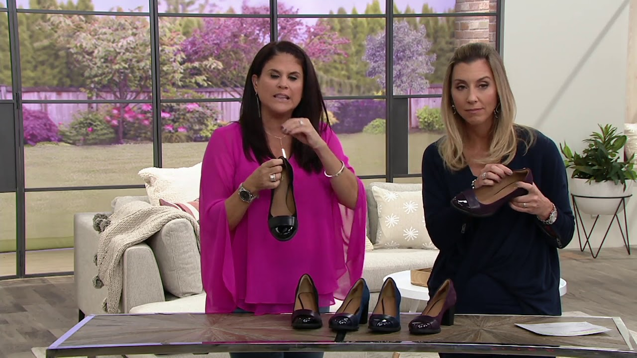 fd11f622c3e Clarks Artisan Leather and Suede Pumps - Tarah Brae on QVC - YouTube