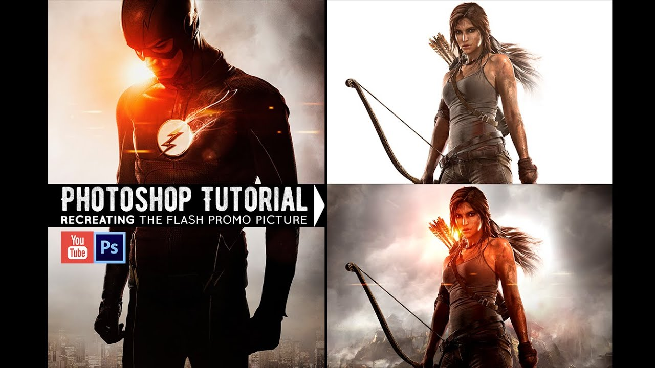 Recreating The Flash Photo Photoshop Tutorial YouTube