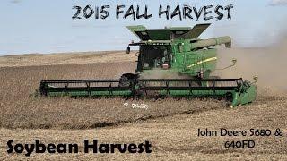 Soybean Harvest: John Deere S680 Combine