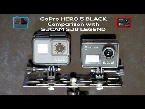 GoPro Hero 5 Black vs SJCAM SJ 6 Legend , Side By Side video comparison, Shootout analysis