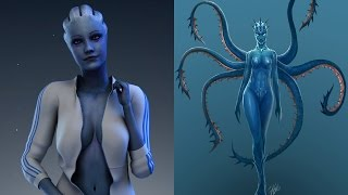 Mass Effect Asari true form and threat - are they parasites?