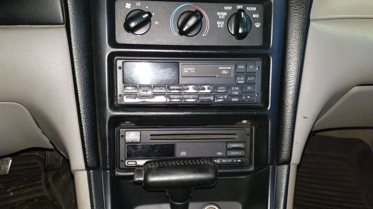 medium resolution of installing a aftermarket stereo in a mustang gt 98 with 460 mach sound system sn95