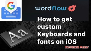 How to get custom keyboards and font on iOS