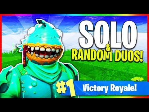 Solos & Random Duos! (Fortnite: Battle Royale LIVE Gameplay) #Ad