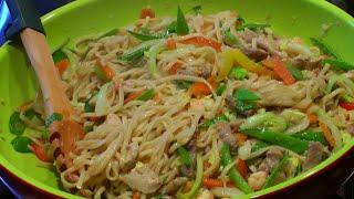 PANCIT CANTON (stir-fry egg noodles)  ALA CECILIA