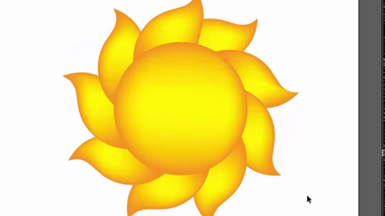 How To Draw A Sun In Adobe Illustrator Very Н…𝐀𝐒𝐓 Youtube