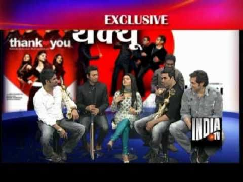 Thank You Movie Cast at India TV Studio