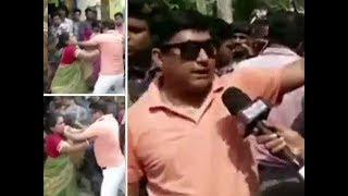 BJP candidate Arjun Singh's 'close aide' caught on camera manhandling woman