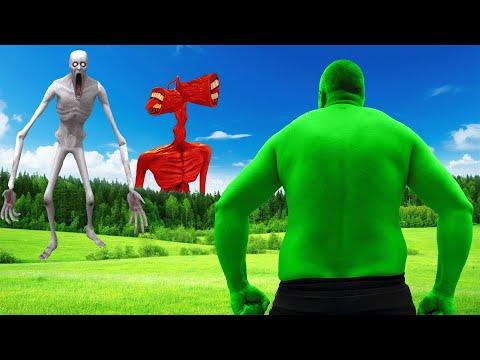 Hulk VS Siren Head VS SCP-096