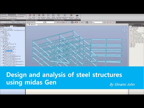 Designing Steel Structure by midas Gen - YouTube