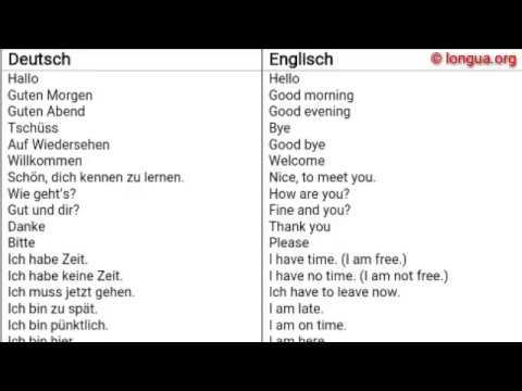 Ich Bin Auf Englisch