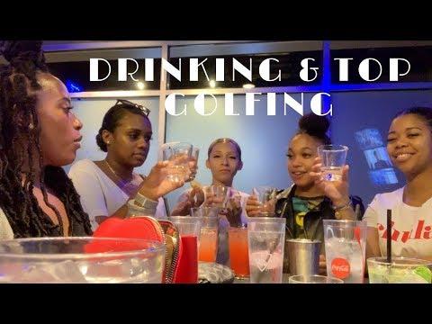 TOP GOLF FAIL | ATLANTA GIRLS TRIP PT 4 | VLOG | JADEGEETV