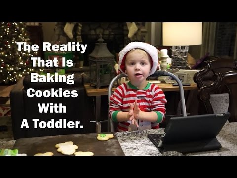Making Christmas Cookies With A Toddler Funny Kids