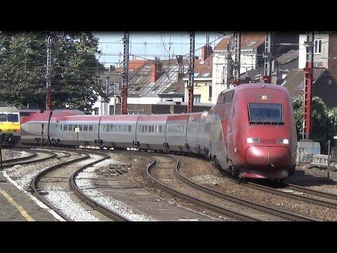 Thalys 4303 komt langs Station Brussel Kapellekerk