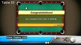 Bankshot Billiards 2 Trick Shots Xbox 360 Tables 53 to 56