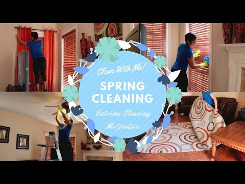 Clean With Me| Spring Cleaning 2018| Extreme Cleaning Motivation| Living Room Deep Clean