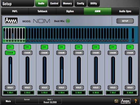 Allen & Heath GLD AMM Automatic Mic Mixing