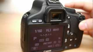 Canon 550D basic operation: Beginners guide to the mode dial