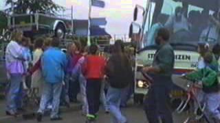 1991 Intocht na schoolreis met muziek