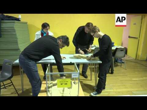 Polls close in French cities after election