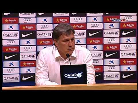 Entrenador argentino Gerardo Martino anunció su salida del Barcelona 17-05-2014