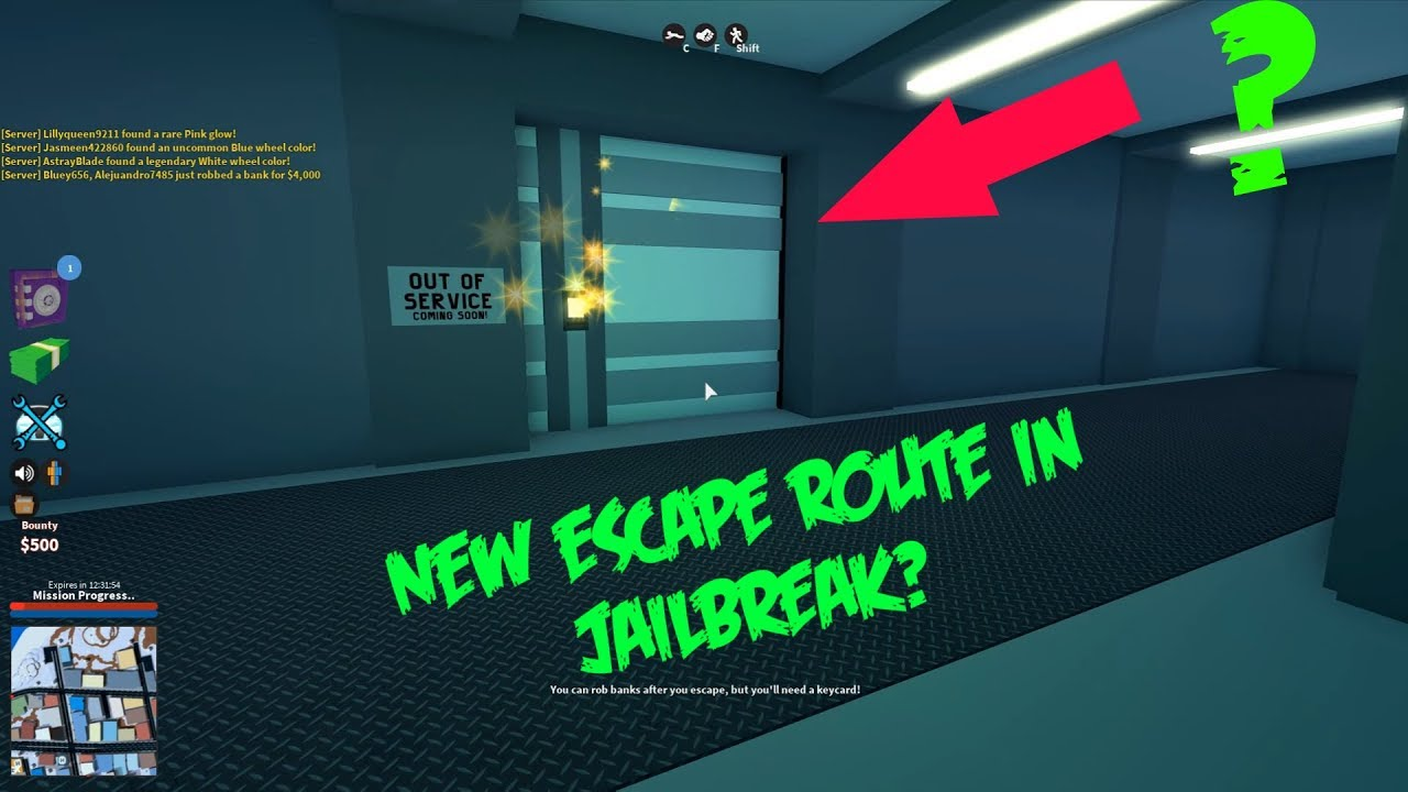 Exclusive New Bank Escape Route Roblox Jailbreak Youtube