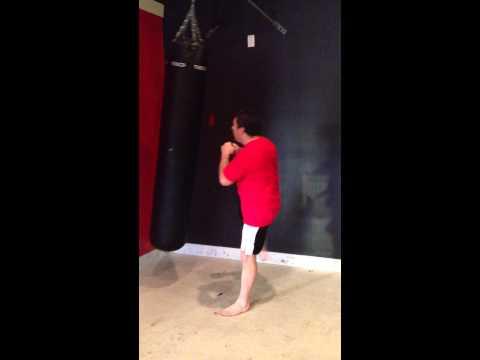 How to use a punching bag.  Panama City Self Defense Chun Tu Moo Sool