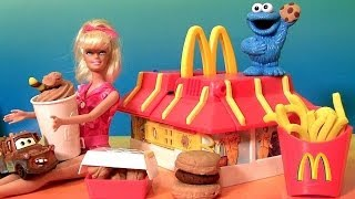 Play Doh McDonald s Restaurant Playset With Cookie Monster Barbie Mold Burgers Fries McNuggets