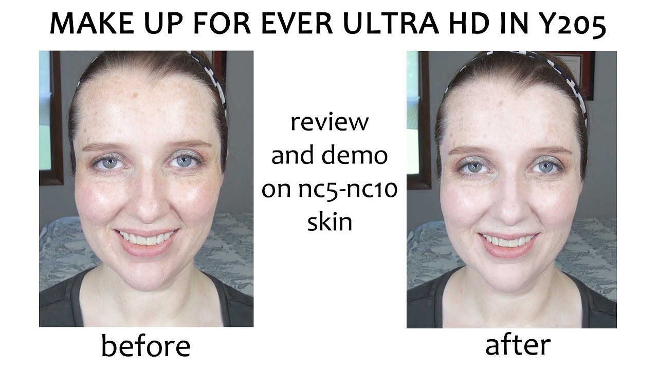 Makeup forever hd foundation stick y205 fay blog review and demo of make up for ever ultra hd foundation in y205 on nc5 nc10 baditri Image collections