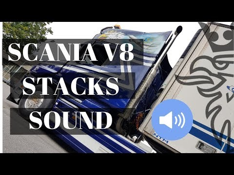 Amazing Scania V8 Sound From Straight Piped Stacks.  GoPro View On Stacks Only For V8 Fans!!!