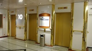 Tour of the 1991 MacGREGOR Navire traction elevators @ Cruiseferry M/S Crown Seaways