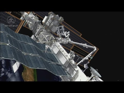 Dextre tests NASA's International Space Station Robotic External Leak Locator (IRELL)