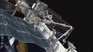 Dextre tests NASA's International Space Station Robotic External Leak Locator (IRELL)