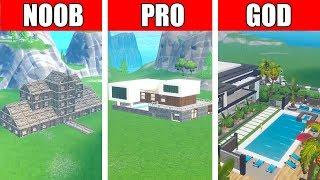 Fortnite NOOB vs PRO vs GOD: MODERN MANSION HOUSE BUILD CHALLENGE in Fortnite