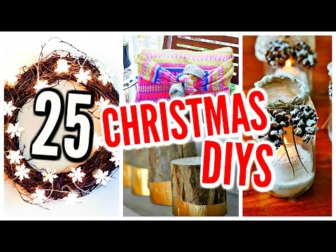 25 DIY Christmas Decorations! Holiday Room Decor, Crafts & Projects