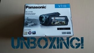 panasonic HC-V110 Camcorder 1080P Unboxing and Video Test!