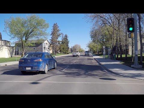 Life in Edmonton Alberta Canada. Driving Around Houses/Homes to Warehouses.