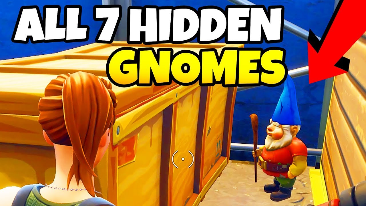 all 7 gnome locations in fortnite battle royale week 7 challenge - 7 gnomes fortnite